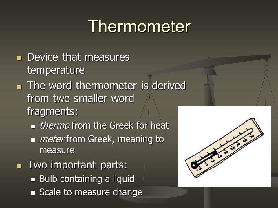Thermometer Device that measures temperature