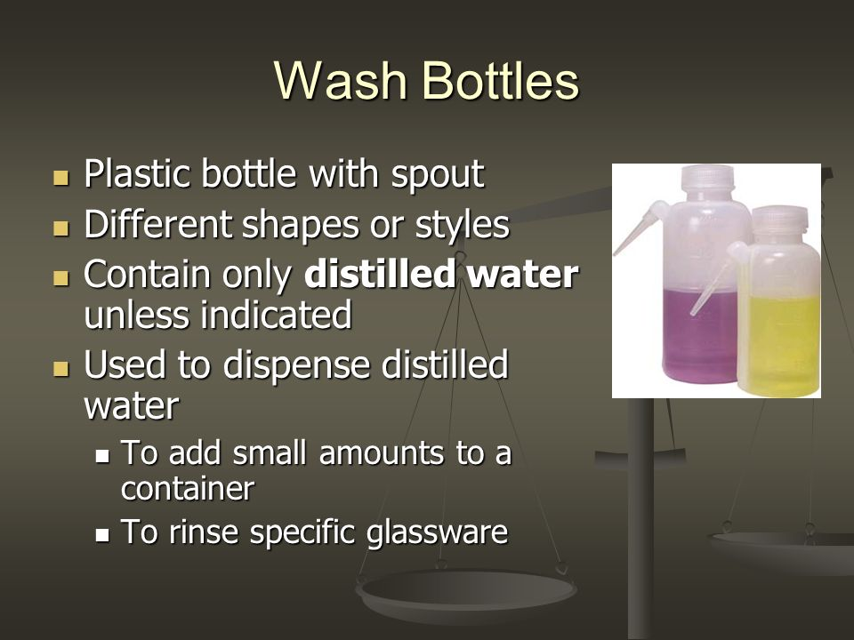 Wash Bottles Plastic bottle with spout Different shapes or styles
