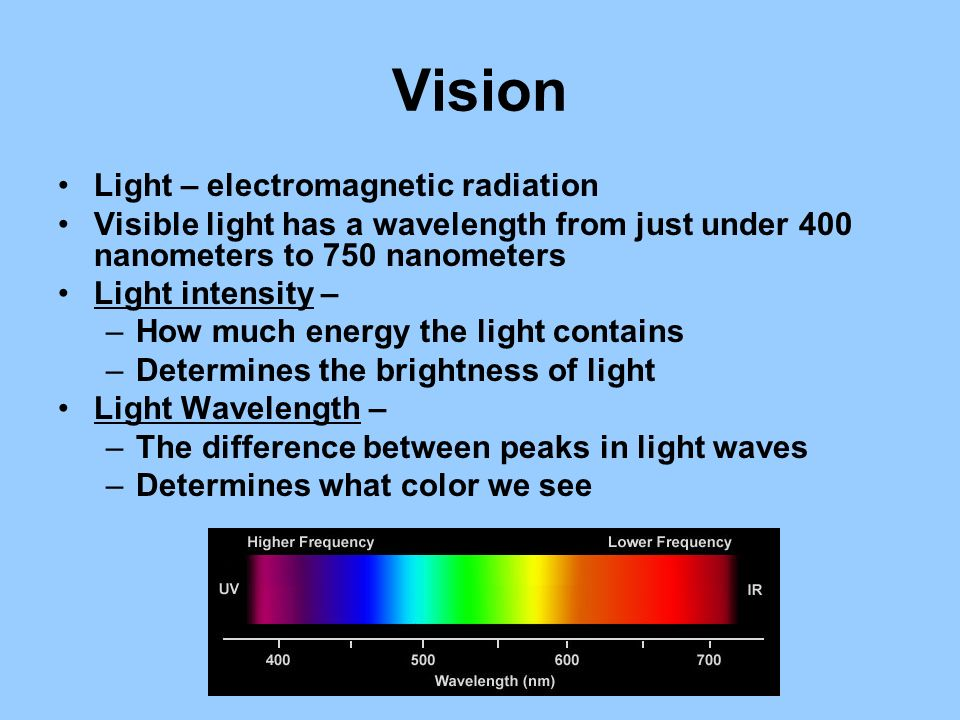 Vision Light – electromagnetic radiation