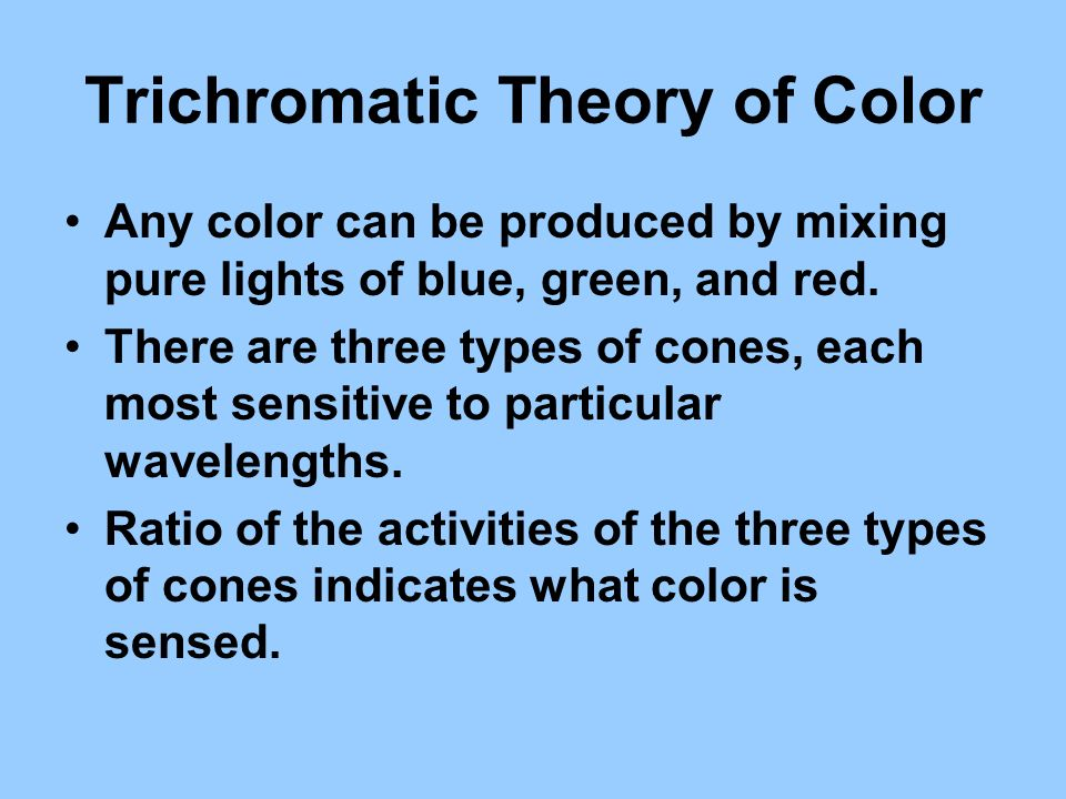 Trichromatic Theory of Color