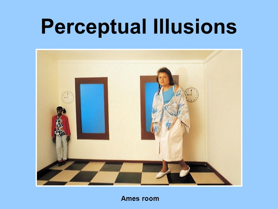 Perceptual Illusions Ames room