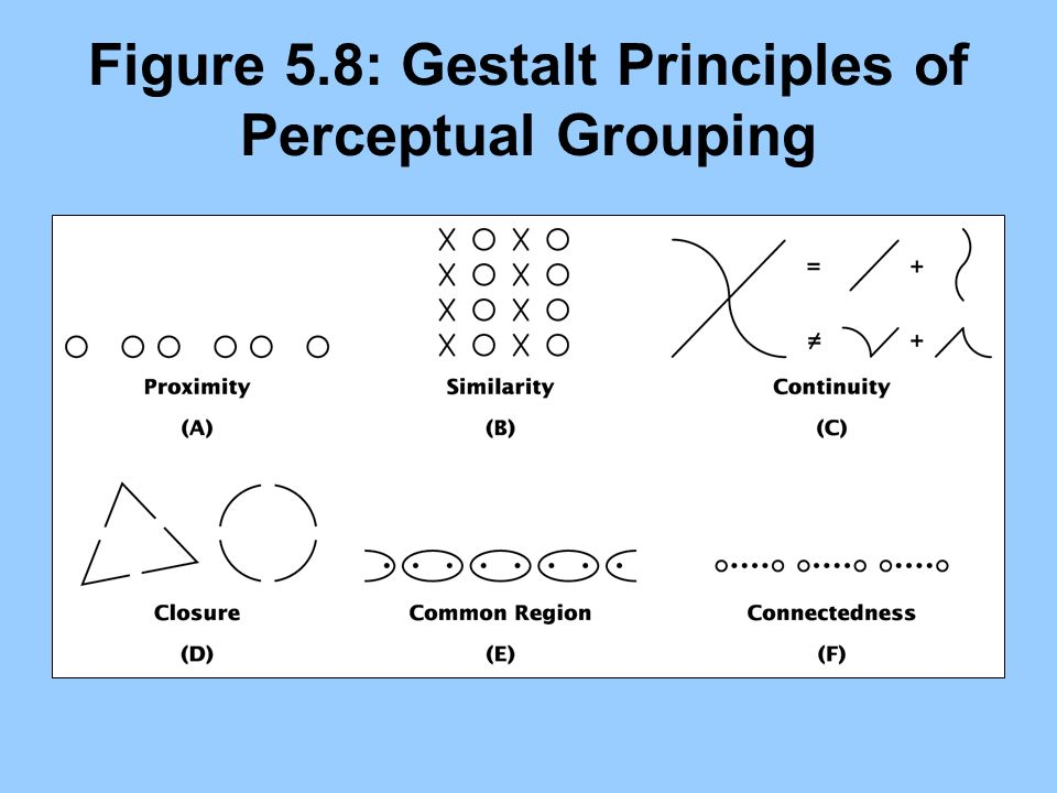 Figure 5.8: Gestalt Principles of Perceptual Grouping