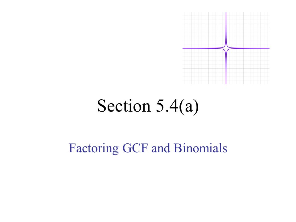 Factoring GCF and Binomials ppt download – Factoring by Gcf Worksheet