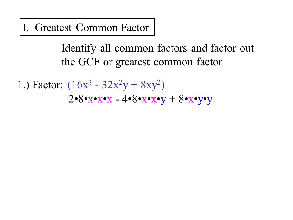 factoring greatest common factor worksheet Termolak – Factoring by Gcf Worksheet