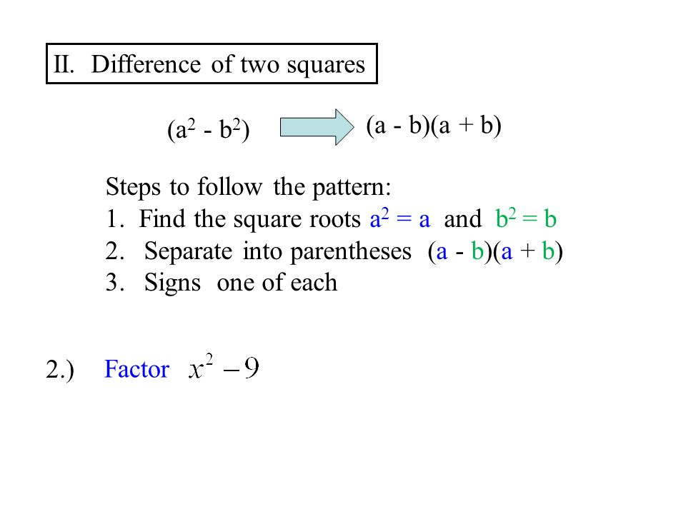 factoring difference of squares - Forte.euforic.co