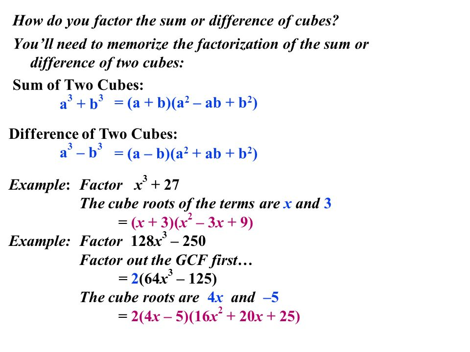 Factoring polynomials ppt download 5 how do you factor the sum or difference of cubes ccuart Image collections