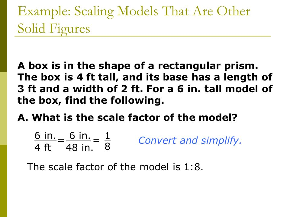 Example: Scaling Models That Are Other Solid Figures