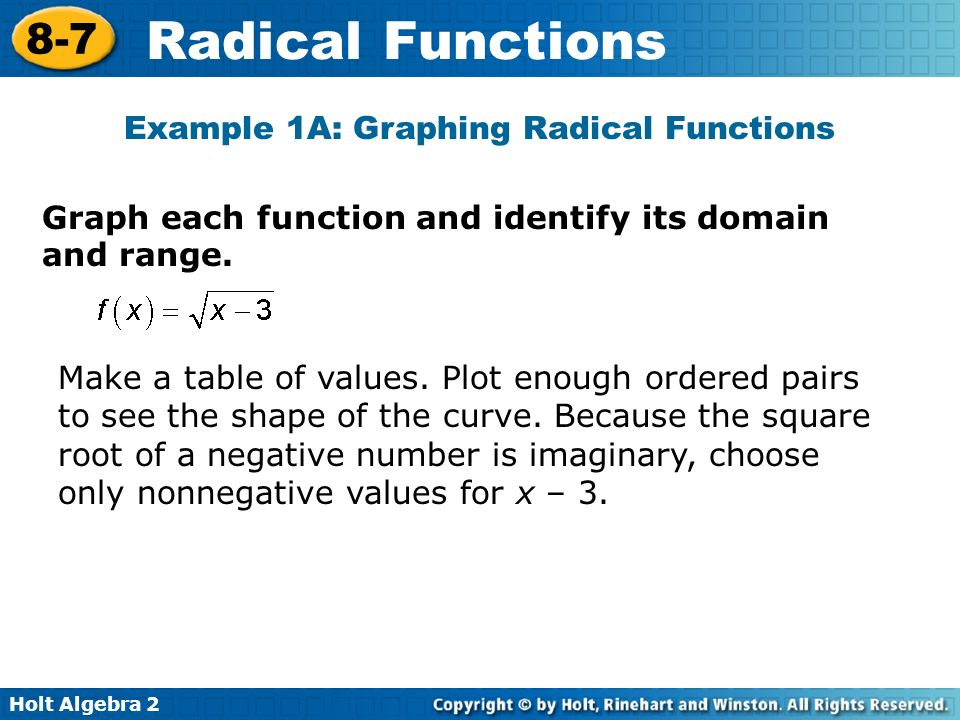 Objectives graph radical functions and inequalities ppt download example 1a graphing radical functions ccuart Image collections