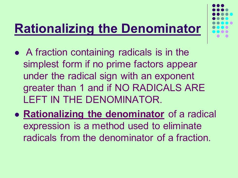 Simplifying Radical Expressions - ppt download