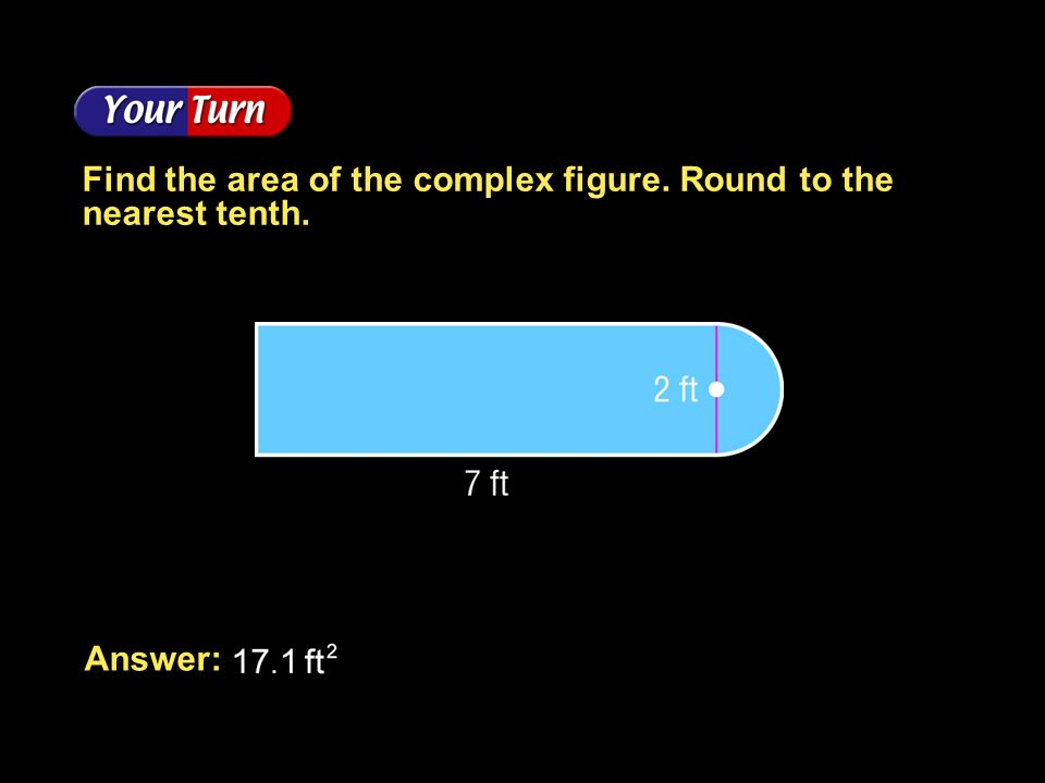 Find the area of the complex figure. Round to the nearest tenth.