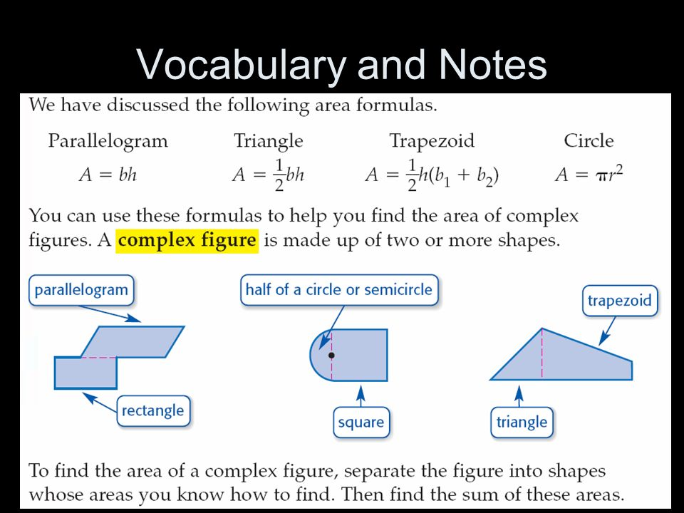 Vocabulary and Notes