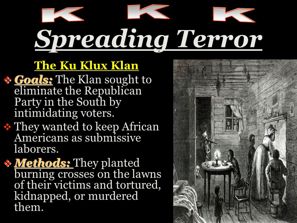 Spreading Terror K K K The Ku Klux Klan