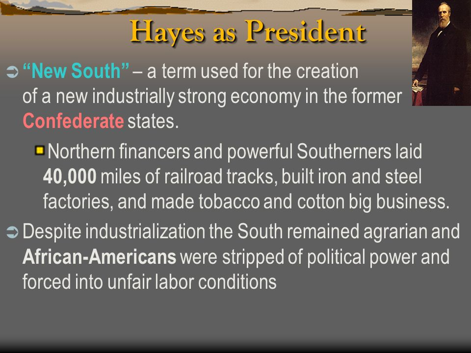 Hayes as President