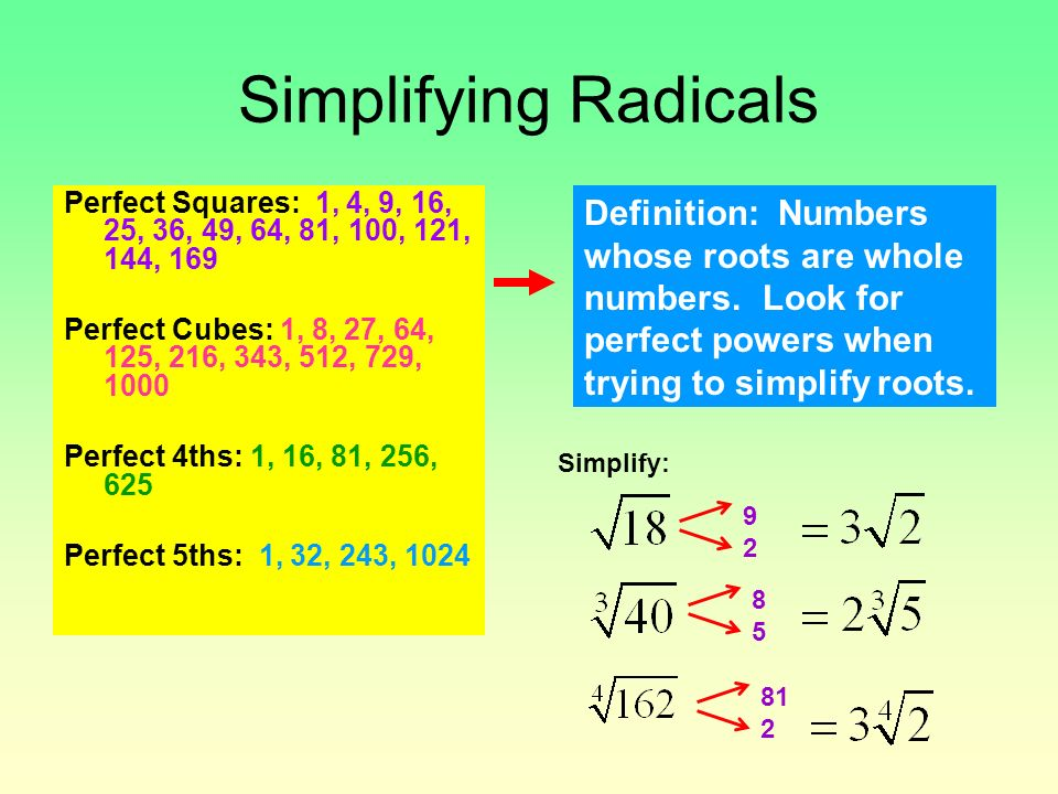 Properties and Rules for Exponents Properties and Rules ...
