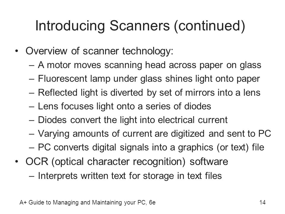 Introducing Scanners (continued)