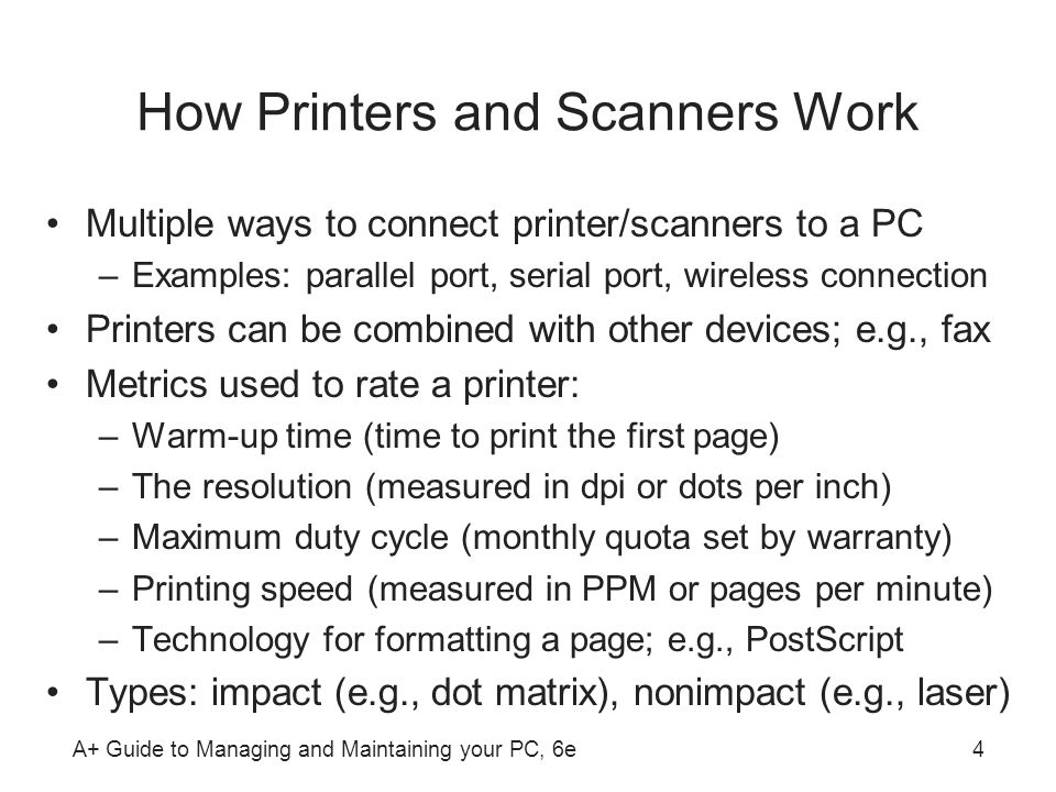 How Printers and Scanners Work