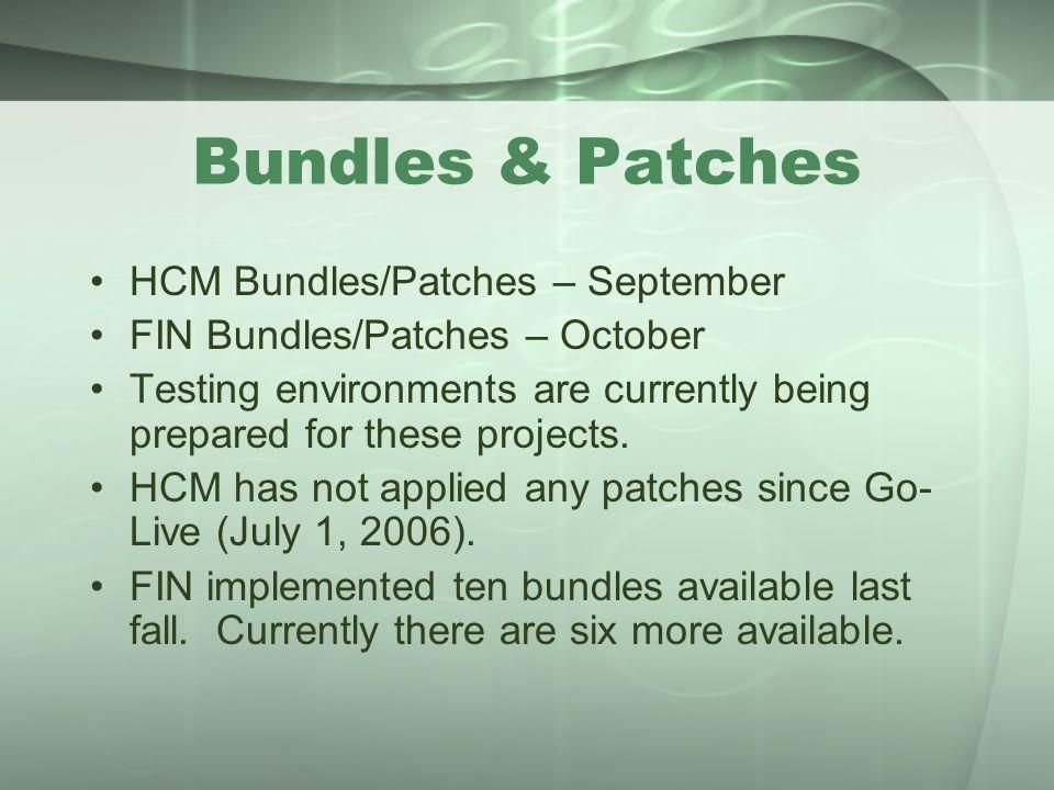 Bundles & Patches HCM Bundles/Patches – September