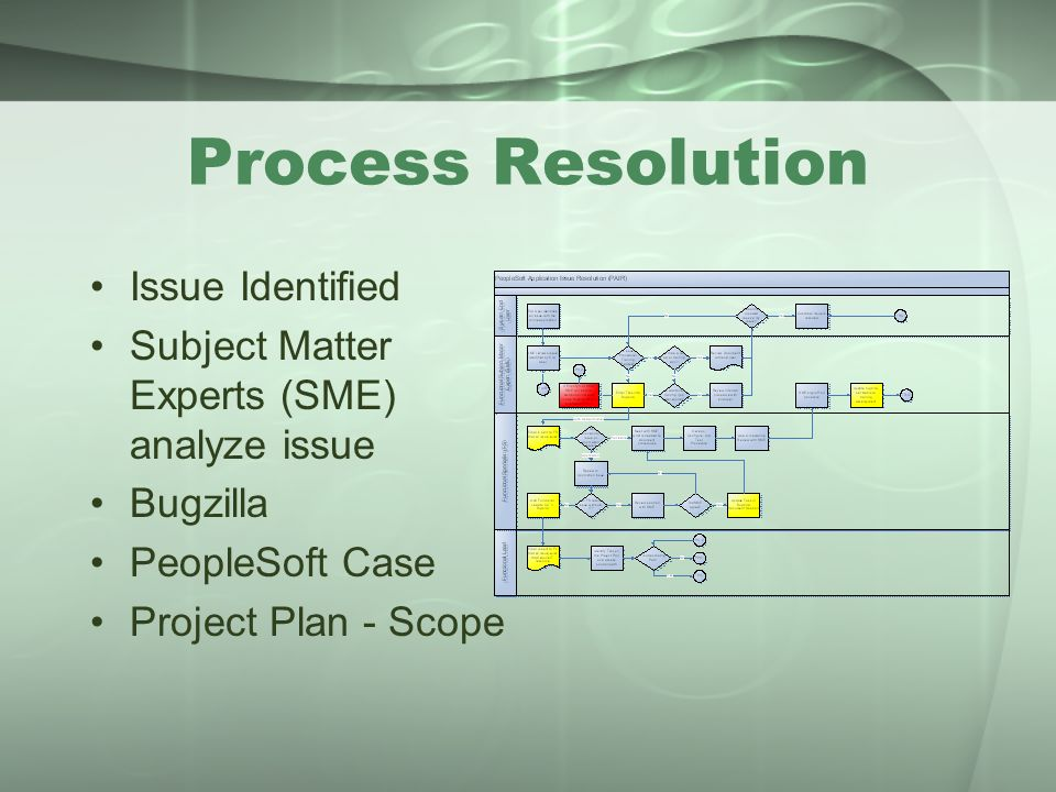 Process Resolution Issue Identified