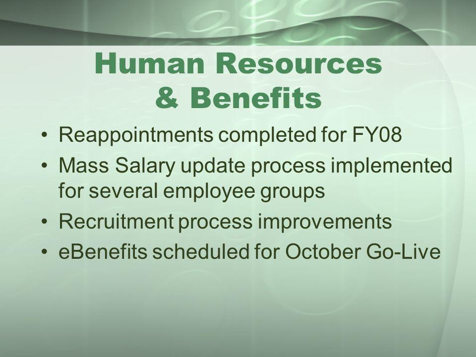 Human Resources & Benefits