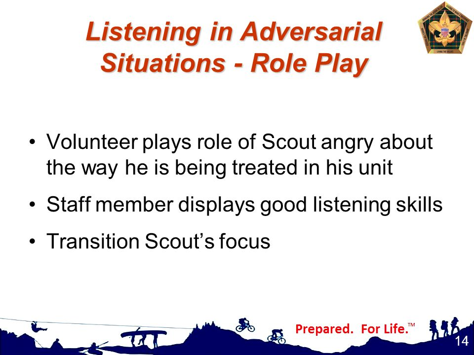 Listening in Adversarial Situations - Role Play