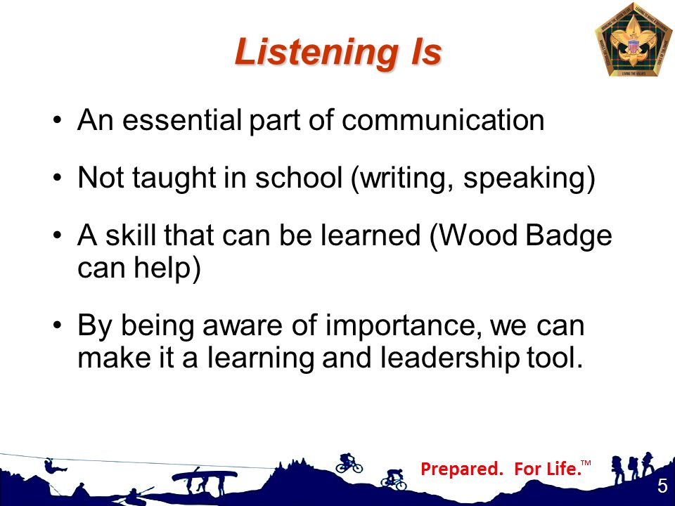 Listening Is An essential part of communication