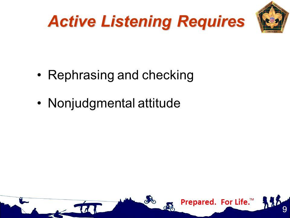 Active Listening Requires