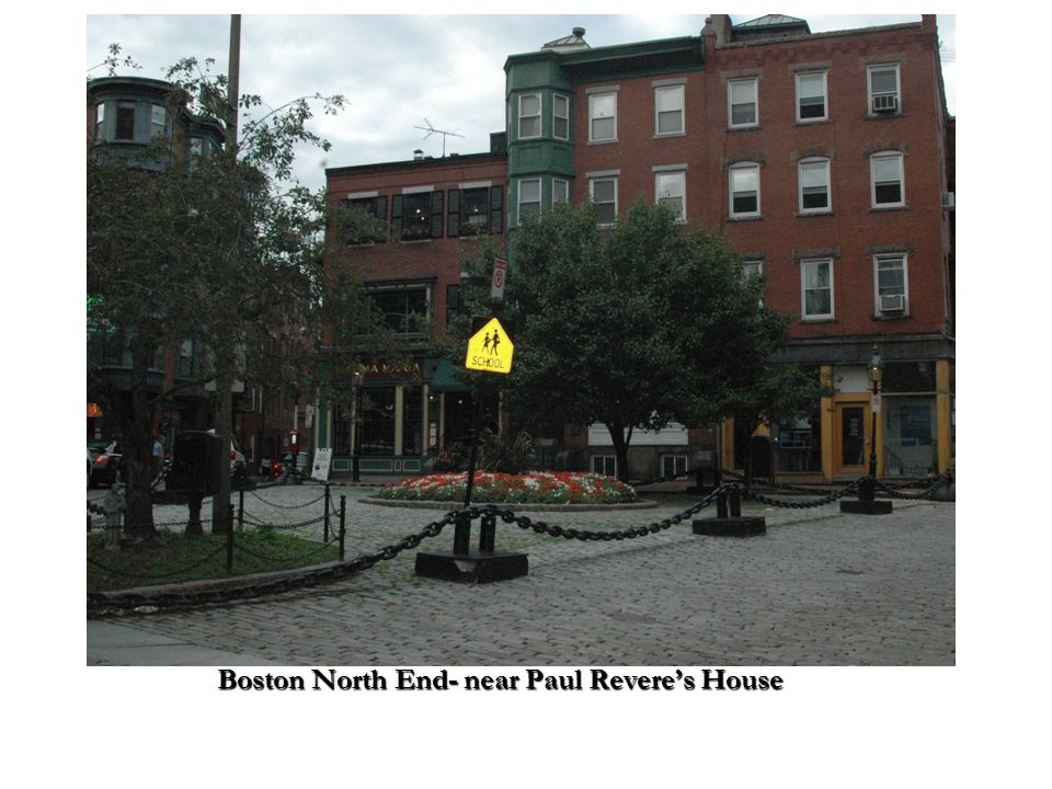 Boston North End- near Paul Revere's House