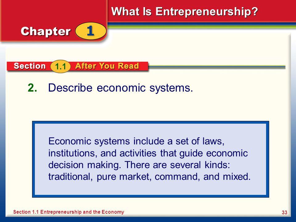 Describe economic systems.
