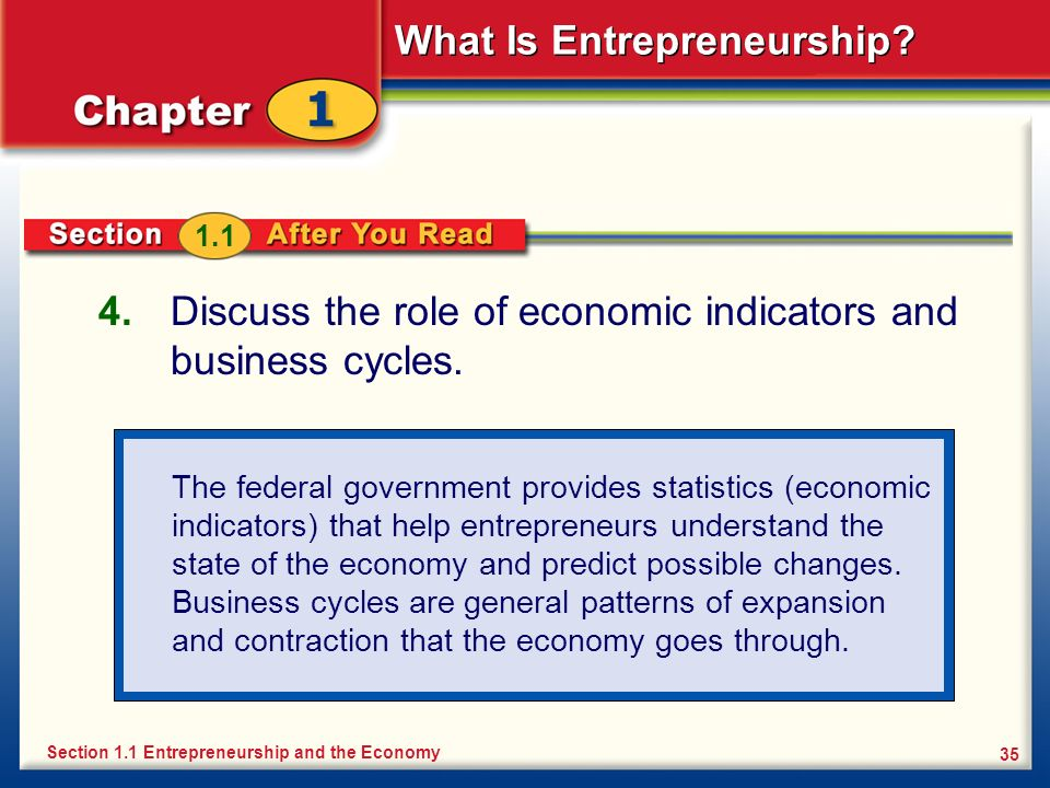 Discuss the role of economic indicators and business cycles.