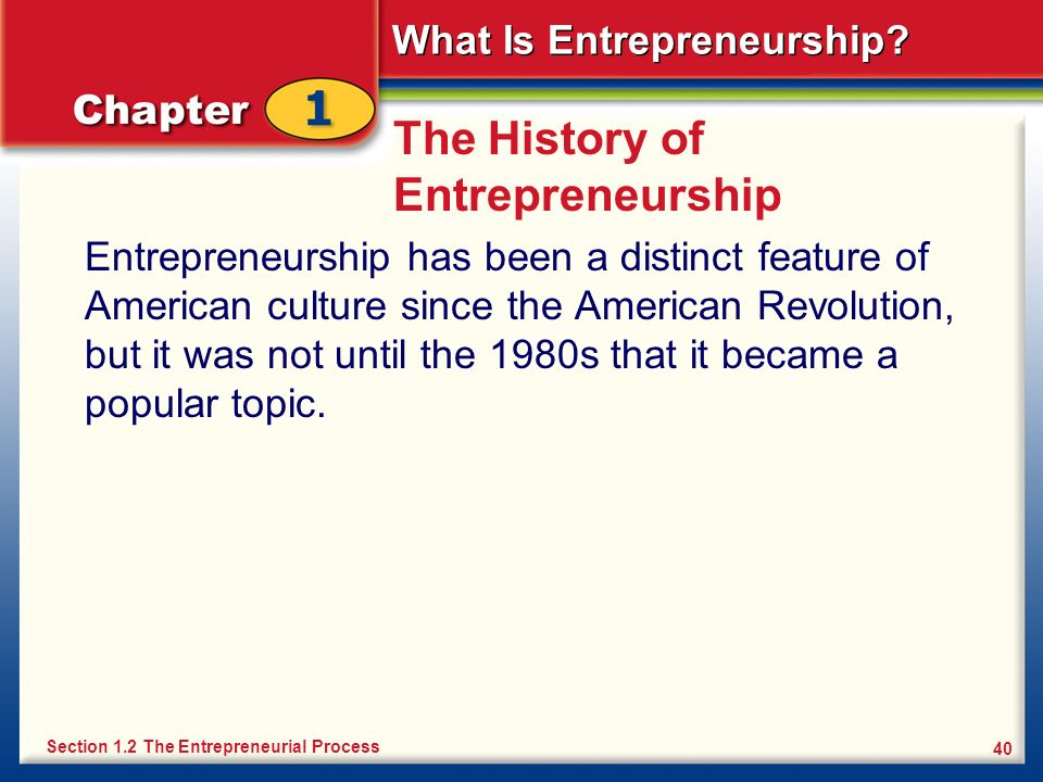The History of Entrepreneurship