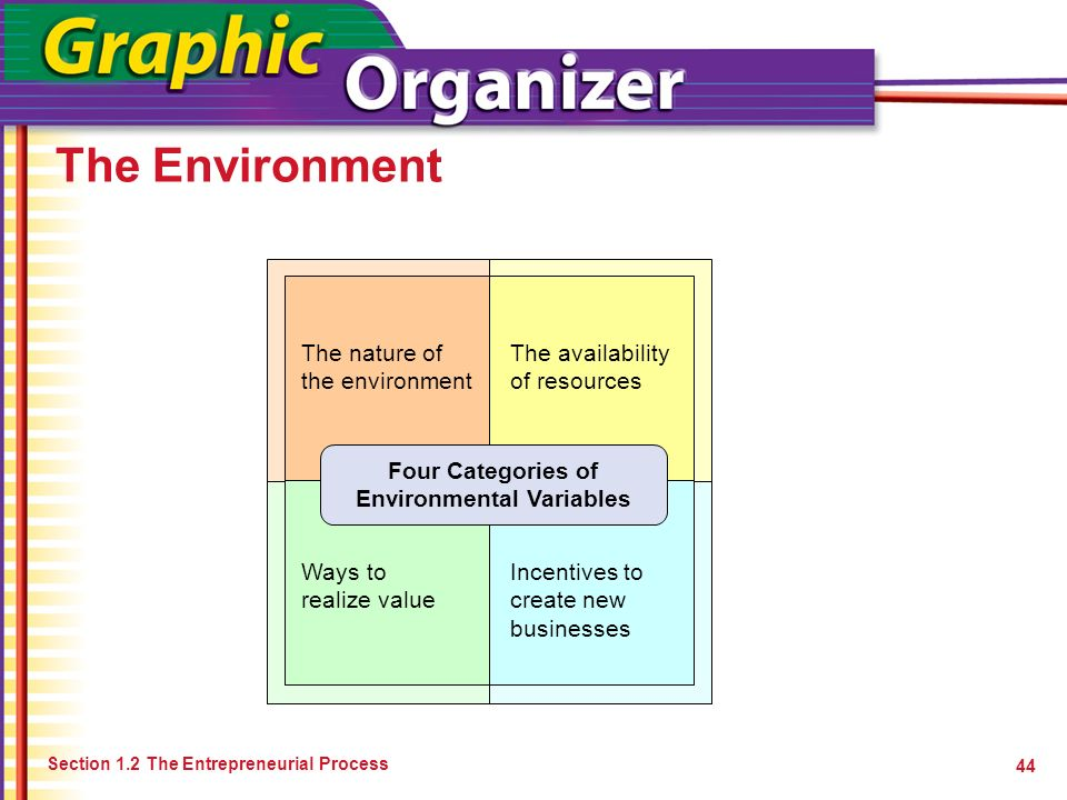 Four Categories of Environmental Variables