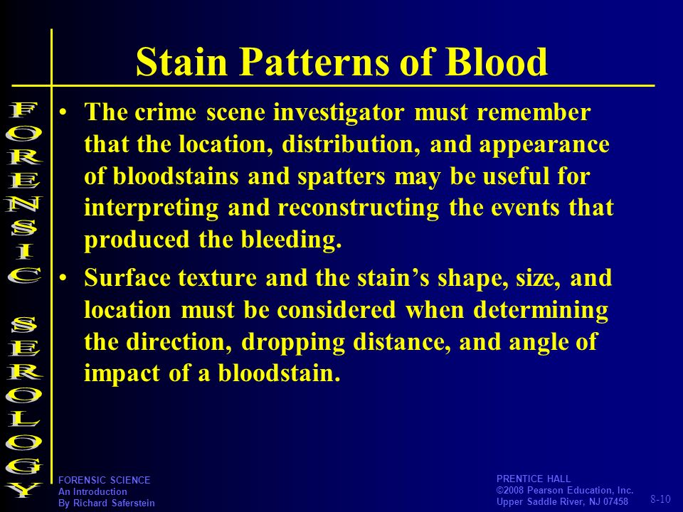 Stain Patterns of Blood