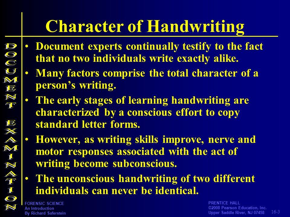 Character of Handwriting