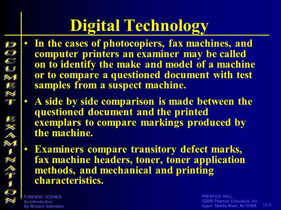 Digital Technology DOCUMENT EXAMINATION