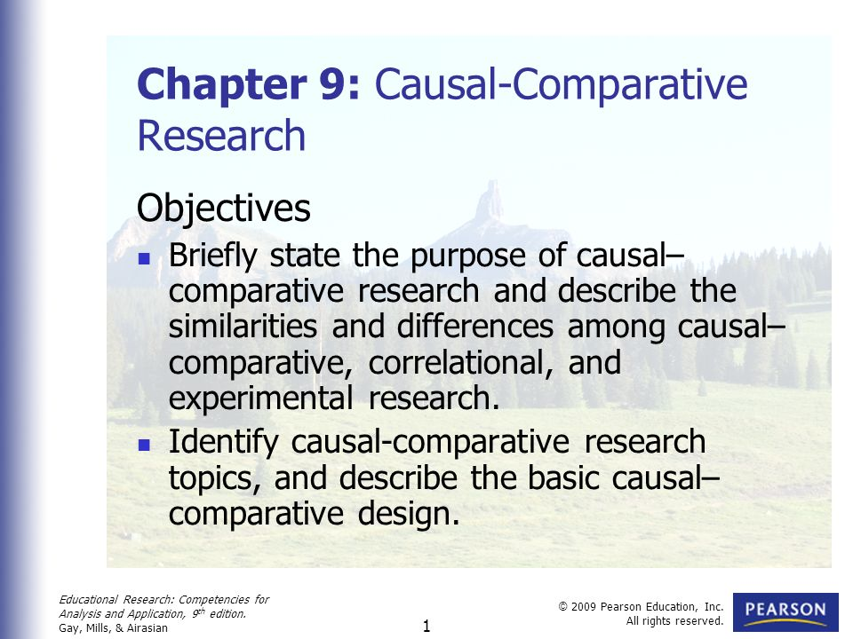 comparative research paper Comparative effectiveness research is the conduct and synthesis of systematic research comparing different interventions and strategies to prevent, diagnose, treat and monitor health conditions.