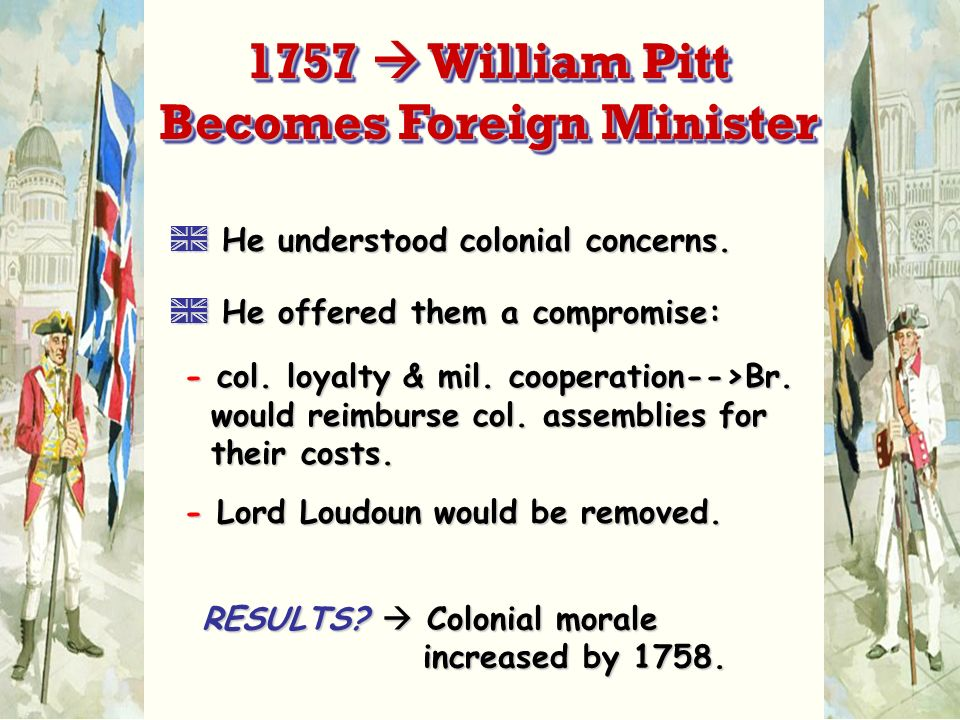 1757  William Pitt Becomes Foreign Minister