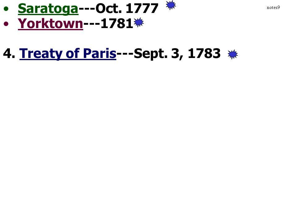 4. Treaty of Paris---Sept. 3, 1783