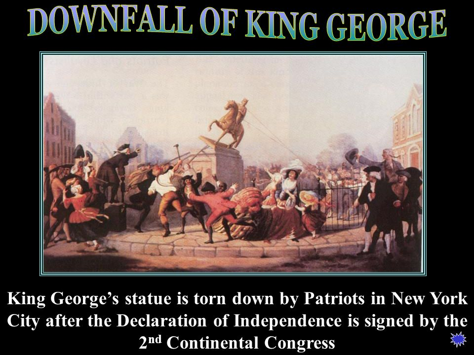DOWNFALL OF KING GEORGE