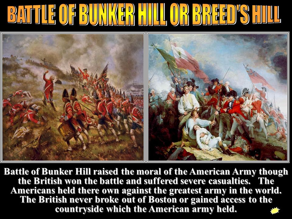 BATTLE OF BUNKER HILL OR BREED S HILL