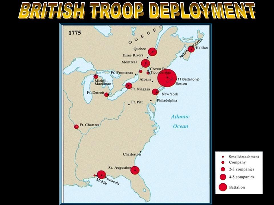 BRITISH TROOP DEPLOYMENT