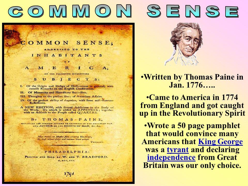 Written by Thomas Paine in Jan. 1776…..