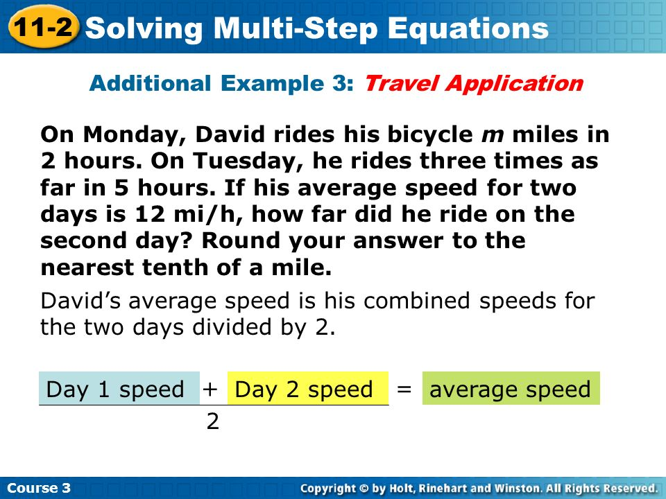 Additional Example 3: Travel Application