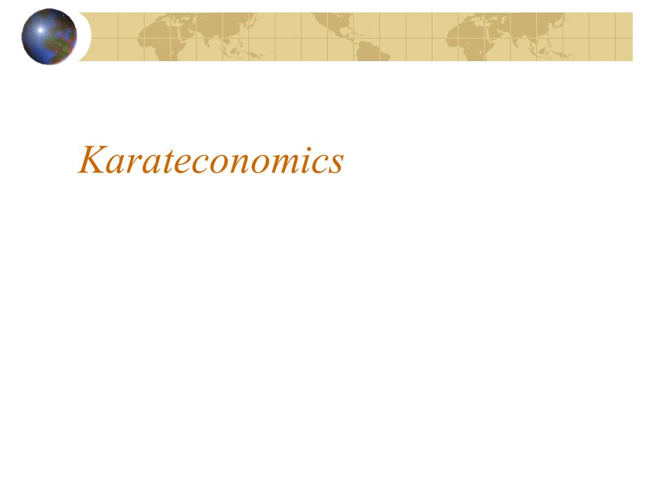 Karateconomics