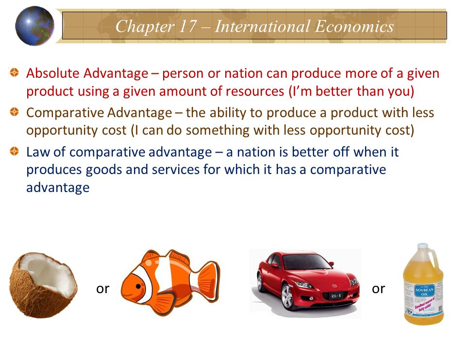Chapter 17 – International Economics