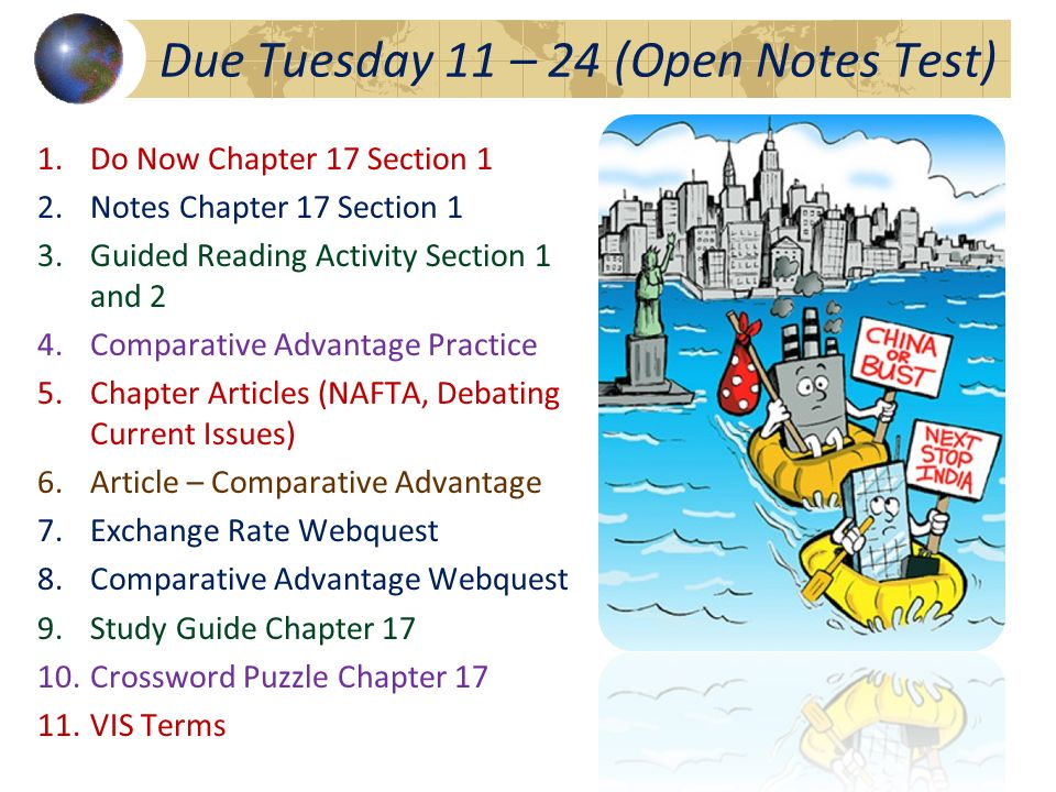 Due Tuesday 11 – 24 (Open Notes Test)