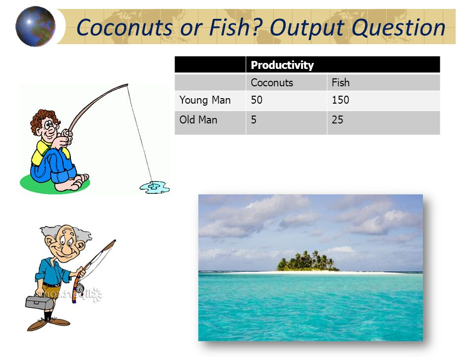 Coconuts or Fish Output Question
