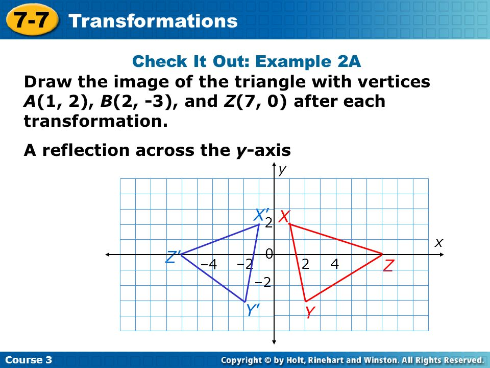 7-7 Transformations Check It Out: Example 2A