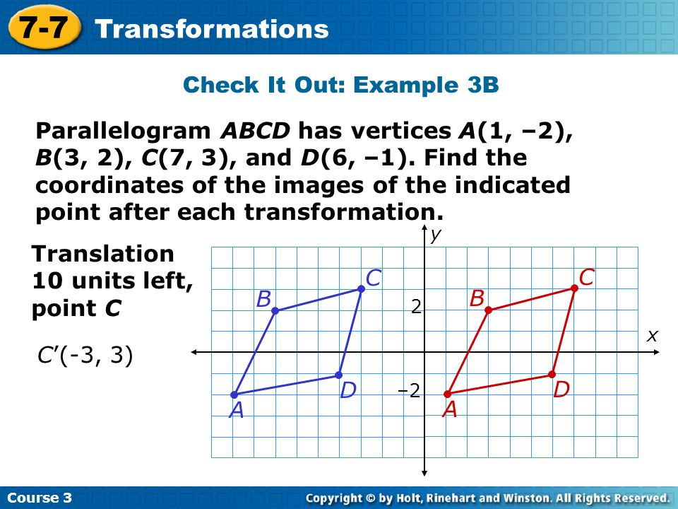 7-7 Transformations Check It Out: Example 3B