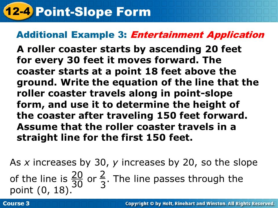 Additional Example 3: Entertainment Application