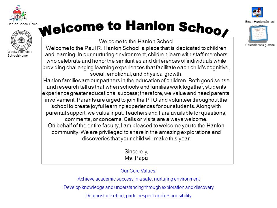 Welcome to Hanlon School